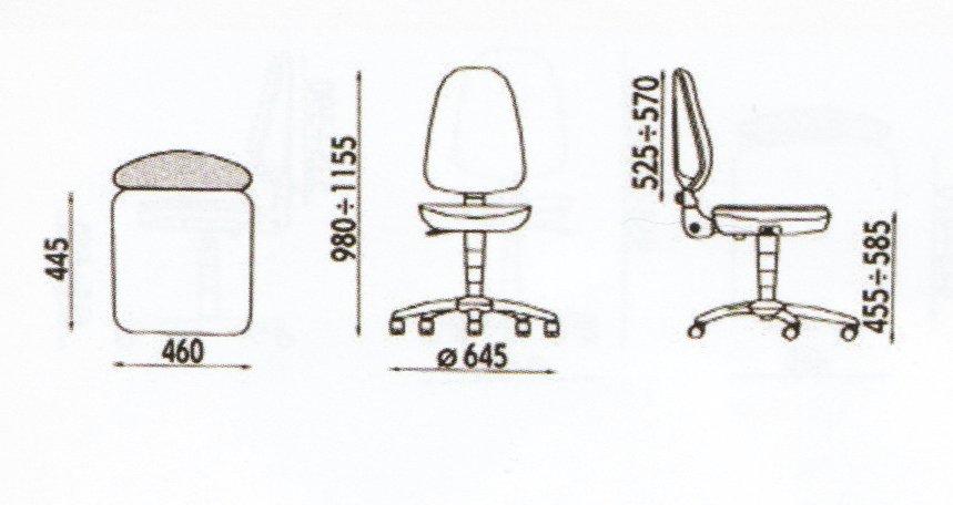 dimensiuni scaun ergonomic ieftin fara brate