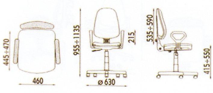 Dimensiuni - informatii scaune ergonomice