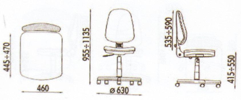Dimensiune scaune ergonomice , usor de montat