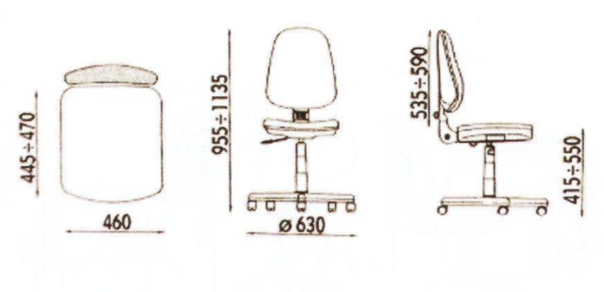 dimensiuni scaune fara brate